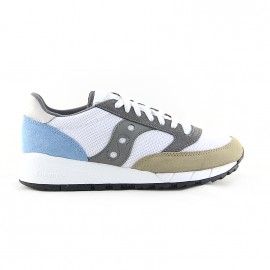 SAUCONY JAZZ 91 WHITE/TAN/LIGHT BLUE
