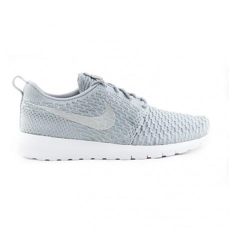 Nike Roshe NM flyknit SE (WOLF GREY WHITE)