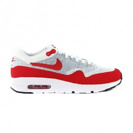 NIKE AIR MAX 1 ULTRA FLYKNIT WHITE RED PURE PLATINUM
