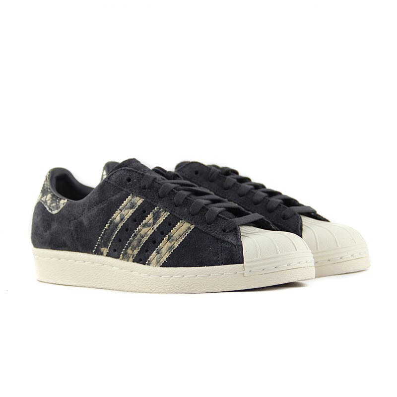 18e92a0be1b ADIDAS Superstar 80s W Utility Black - 2 Huellas