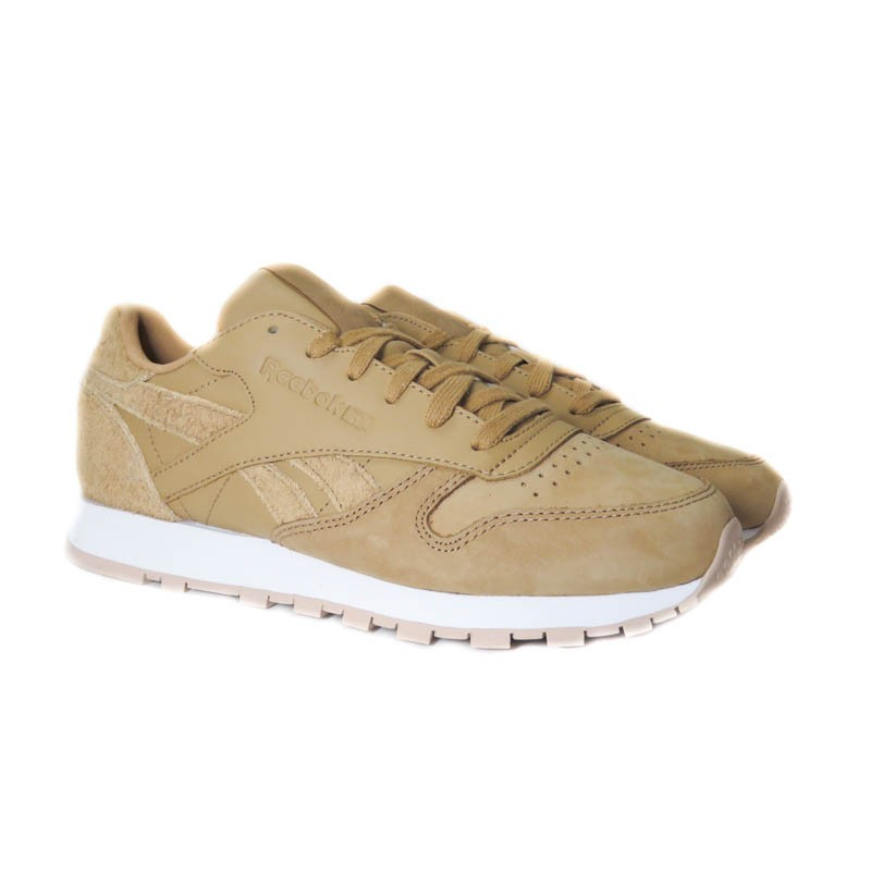 2bdef5acde5 REEBOK CLASSIC LEATHER CAMEL WHITE - 2 Huellas