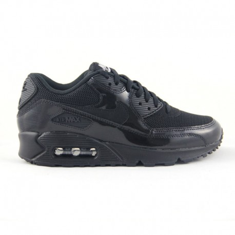 NIKE AIR MAX 90 Premium Black Black 2 Huellas