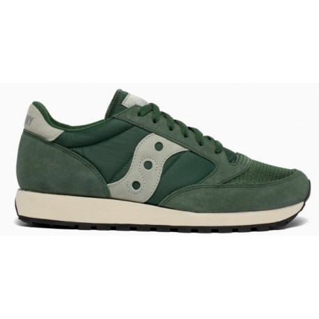 "Saucony Originals Jazz Vintage ""suede logo"" green"