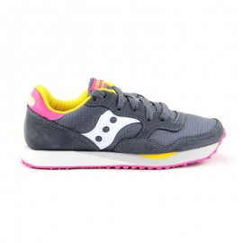 SAUCONY DXN TRAINER CHARCOAL-PINK