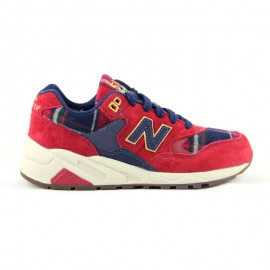 "New Balance WRT580WB ""Tartan"" Really Red / Navy / Cream"