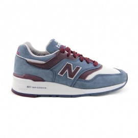NEW BALANCE M997 MADE IN THE USA Grey Steel & Burgundy