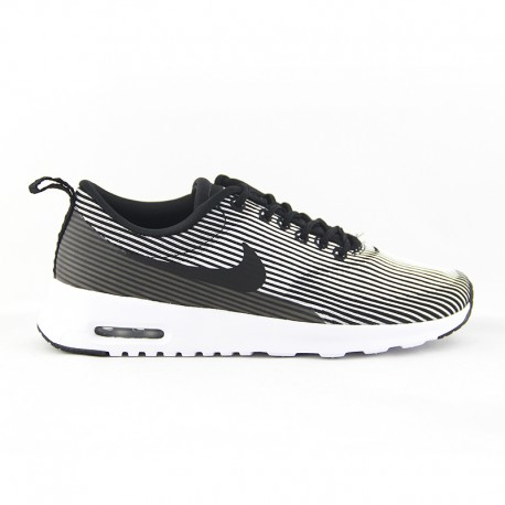 NIKE WOMENS AIR MAX THEA KNIT JACQUARD BLACK/WHITE